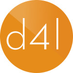 SCRLC—D4L-logo-white reverse on orange-circle(ƒ)